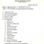 Table of contents, CIS manual